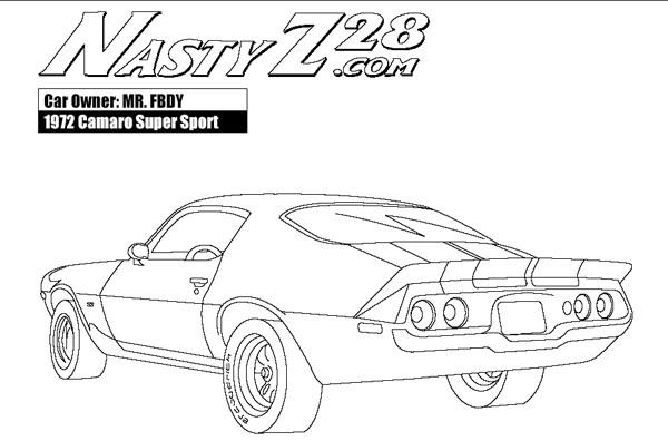 Coloriage et dessins gratuits Camaro Z28 super sport à imprimer