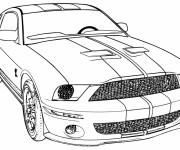 Coloriage et dessins gratuit Camaro ZL1 de course à imprimer