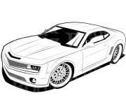 Coloriage Chevrolet Camaro de film Transformers