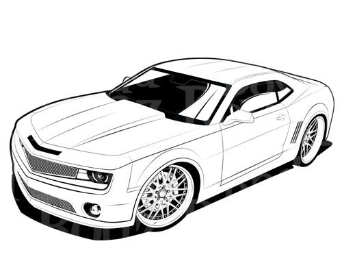 Coloriage et dessins gratuits Chevrolet Camaro de film Transformers à imprimer