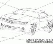 Coloriage Chevrolet Camaro SS stylisé