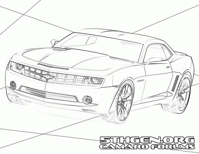 Coloriage et dessins gratuits Chevrolet Camaro SS stylisé à imprimer