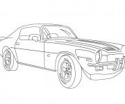 Coloriage Modèle 1970 de voiture Chevrolet Camaro