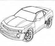 Coloriage et dessins gratuit Modèle Camaro de  Chevrolet à imprimer