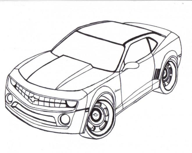 Coloriage et dessins gratuits Modèle Camaro de  Chevrolet à imprimer