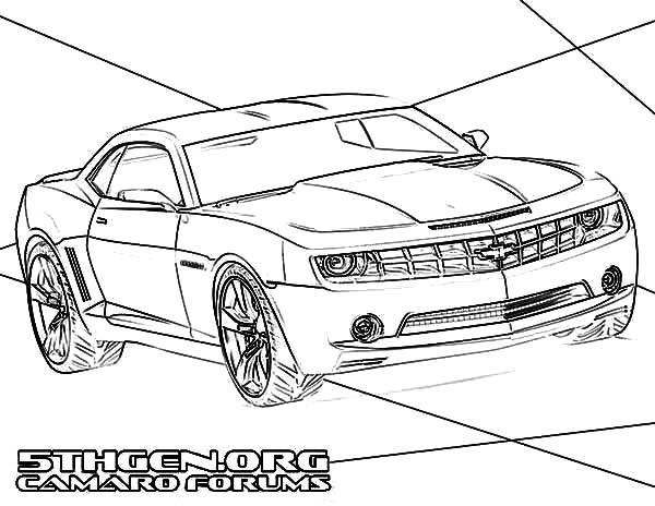 Coloriage et dessins gratuits Nouveau modèle de Chevrolet Camaro à imprimer