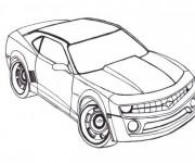 Coloriage et dessins gratuit Voiture Camaro à colorier à imprimer