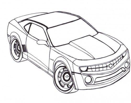 Coloriage et dessins gratuits Voiture Camaro à colorier à imprimer