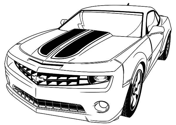 Coloriage et dessins gratuits Voiture Camaro coupé à imprimer