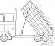Coloriage et dessins gratuit Camion à Benne pour Colorier à imprimer