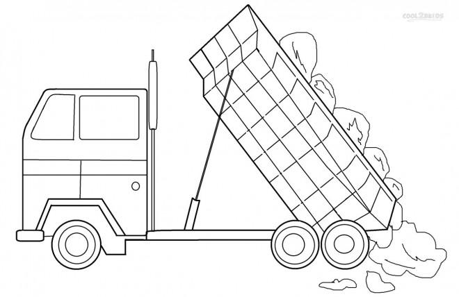 Dessin Camion Benne Coloriage.Coloriage Camion A Benne Pour Colorier Dessin Gratuit A Imprimer