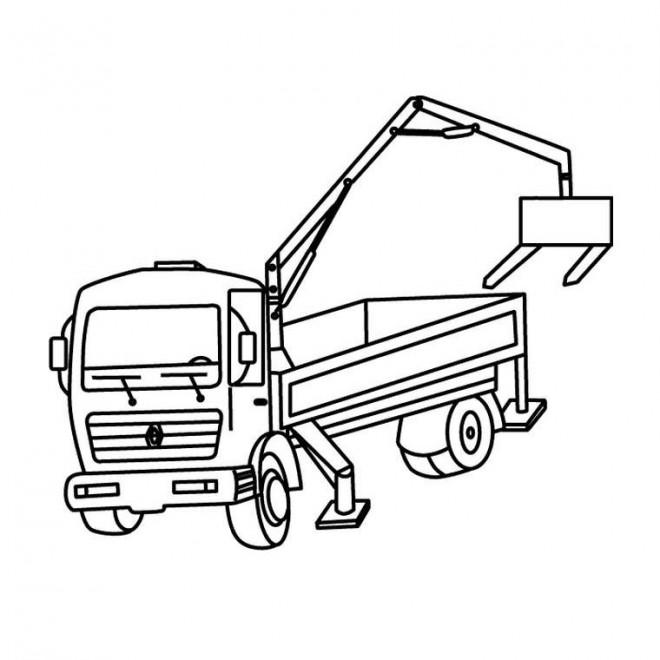 Coloriage camion benne dessin gratuit imprimer - Coloriage tractopelle ...