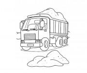 Coloriage et dessins gratuit Camion Benne à découper à imprimer