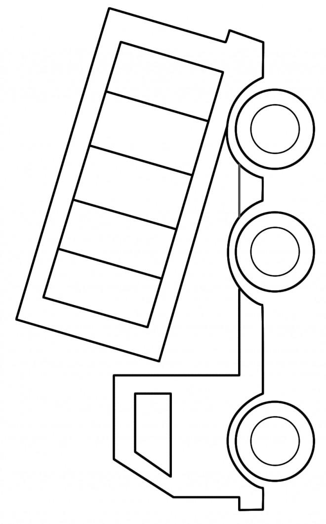 Coloriage et dessins gratuits Camion Benne à six roues à imprimer