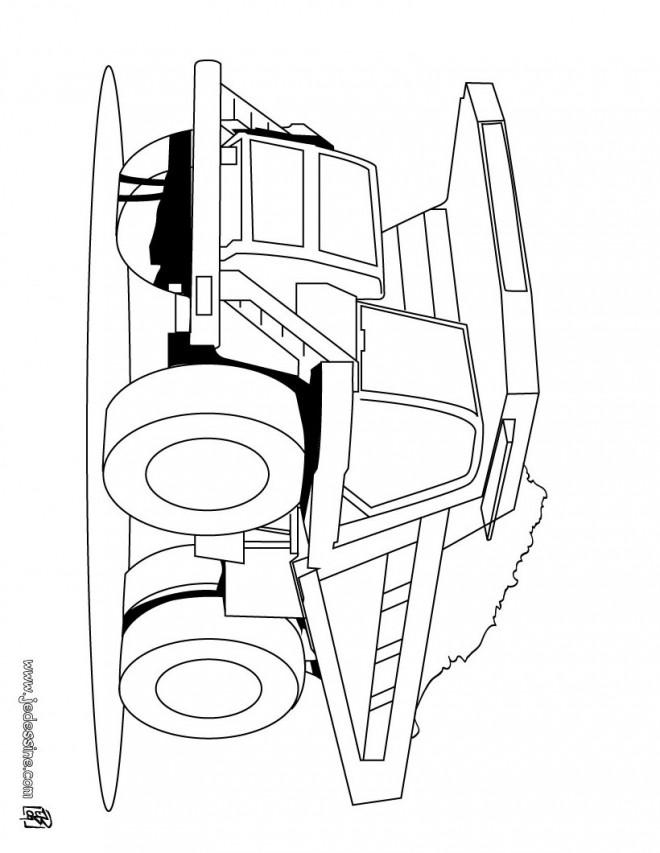 Coloriage et dessins gratuits Camion Benne américain à imprimer