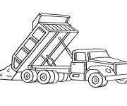 Coloriage et dessins gratuit Camion Benne de chantier à imprimer