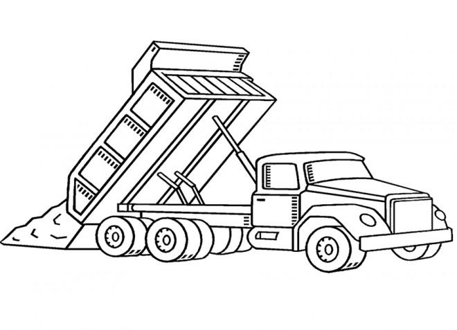 Dessin Camion Benne Coloriage.Coloriage Camion Benne De Chantier Dessin Gratuit A Imprimer