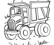 Coloriage et dessins gratuit Camion Benne de travaux à imprimer
