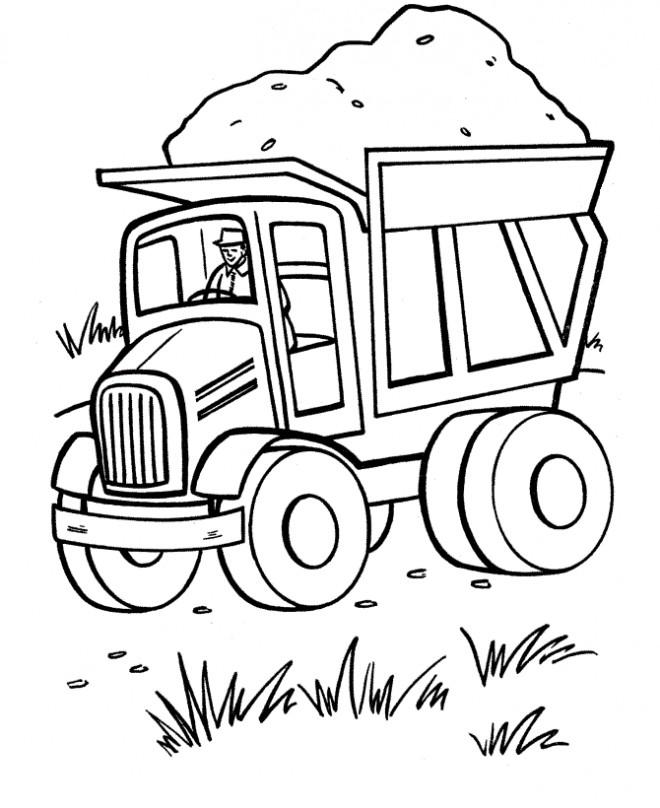 Coloriage et dessins gratuits Camion Benne de travaux à imprimer