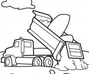 Coloriage et dessins gratuit Camion Benne en vecteur à imprimer