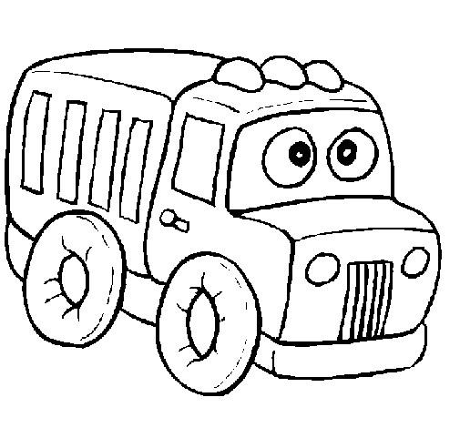 Coloriage et dessins gratuits Camion Benne magique à imprimer