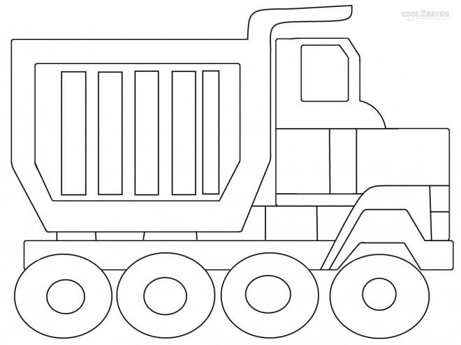 Coloriage et dessins gratuits Camion Benne pour décoration à imprimer