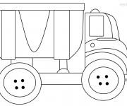 Coloriage et dessins gratuit Camion Benne pour enfant à imprimer