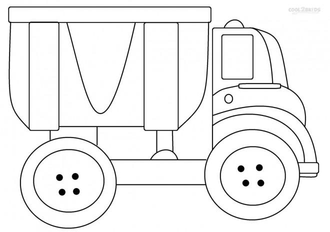 Coloriage et dessins gratuits Camion Benne pour enfant à imprimer