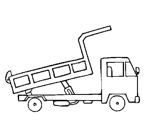Coloriage et dessins gratuits Camion Benne pour transport à imprimer