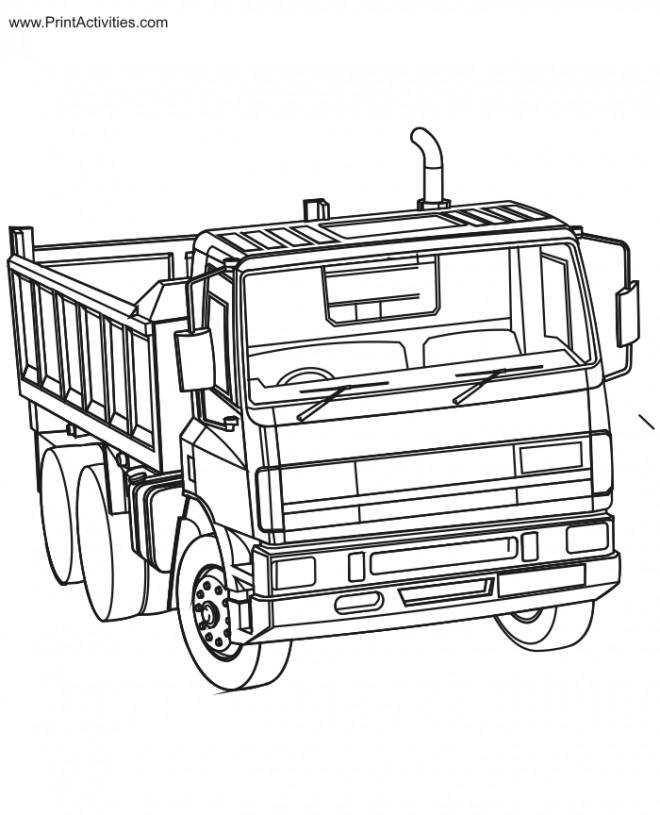 Coloriage et dessins gratuits Camion Benne Scania à imprimer