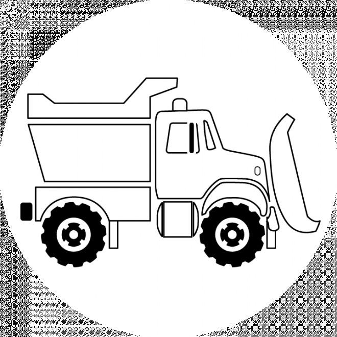 Coloriage et dessins gratuits Camion Benne simple à imprimer