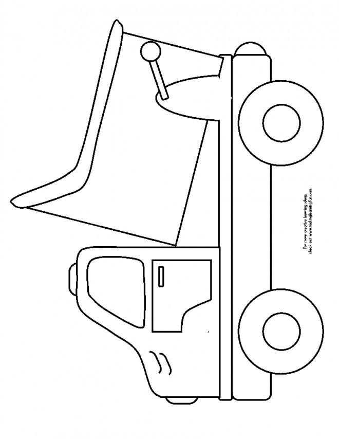 Coloriage et dessins gratuits Camion Benne simplifié à imprimer