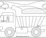 Coloriage et dessins gratuit Camion Benne stylisé à imprimer