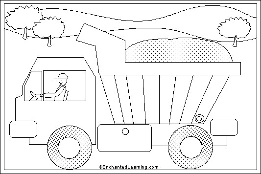 Coloriage et dessins gratuits Camion Benne stylisé à imprimer