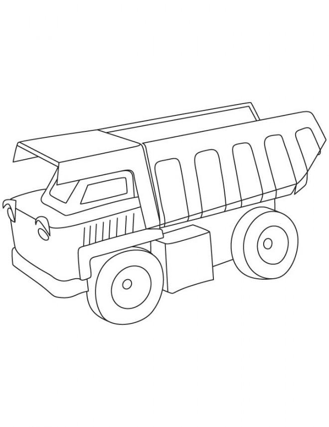 Coloriage et dessins gratuits Camion Benne stylisé à colorier à imprimer