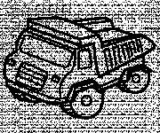 Coloriage et dessins gratuit Camion Benne vecteur à imprimer