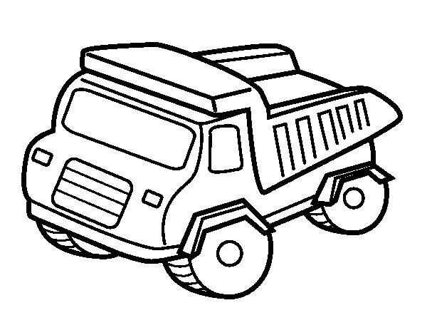 Coloriage et dessins gratuits Camion Benne vecteur à imprimer