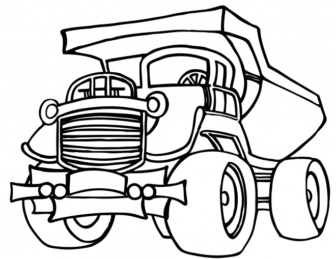 Coloriage et dessins gratuits Camion de travaux à imprimer