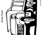 Coloriage et dessins gratuit Camion Dump Truck en ligne à imprimer