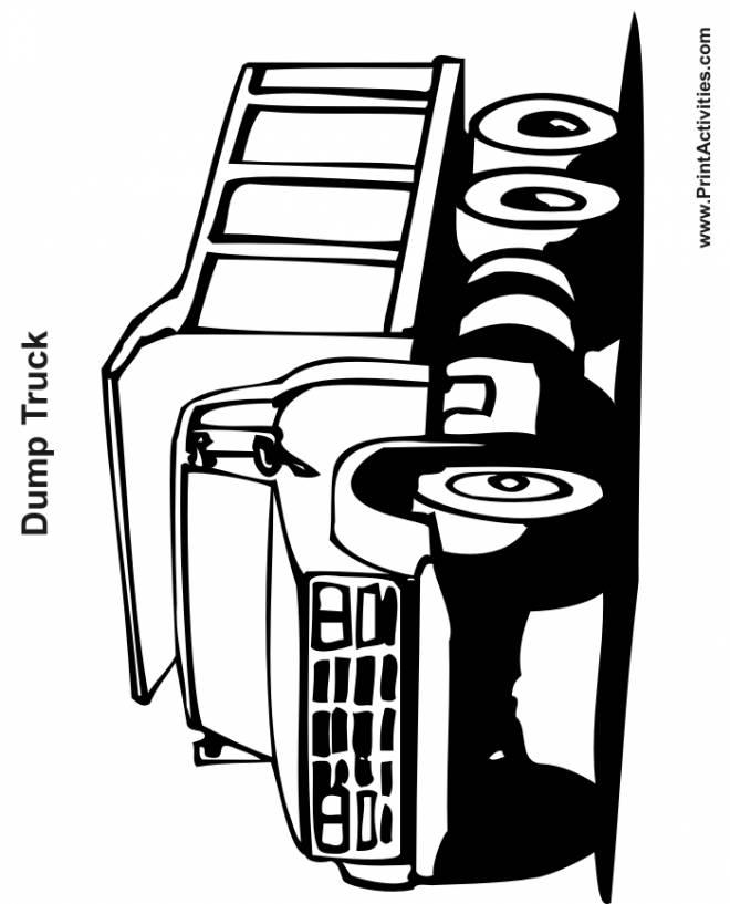 Coloriage et dessins gratuits Camion Dump Truck en ligne à imprimer