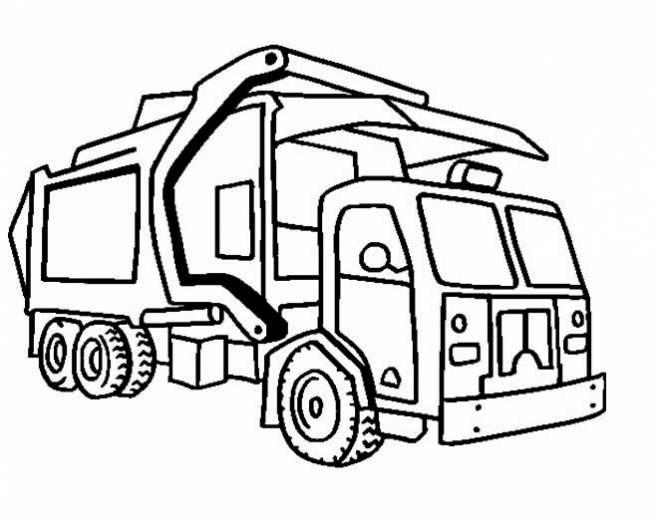 Coloriage et dessins gratuits Camion poubelle à colorier à imprimer