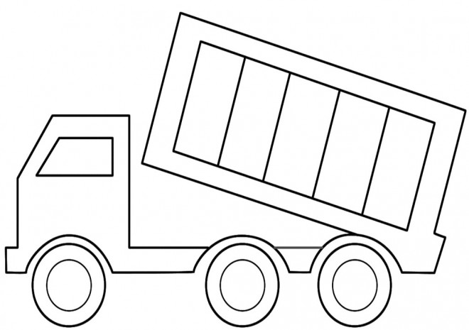 Coloriage Camion Remorque Facile Dessin Gratuit A Imprimer