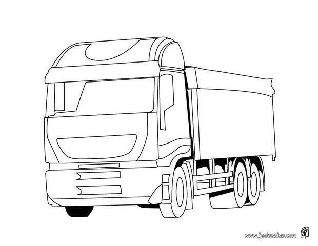 Coloriage et dessins gratuits Camion Scania stylisé à imprimer