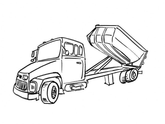 Coloriage et dessins gratuits Camion semi remorque à imprimer