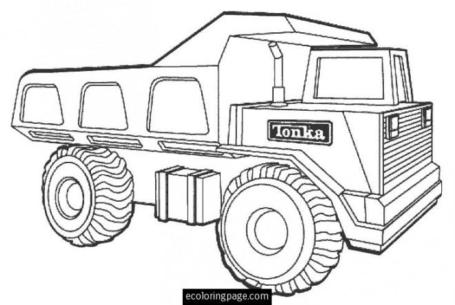 Coloriage camion tonka dessin gratuit imprimer - Camion benne tonka ...