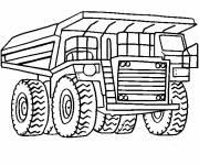 Coloriage et dessins gratuit Camion Tonka à gravier à imprimer