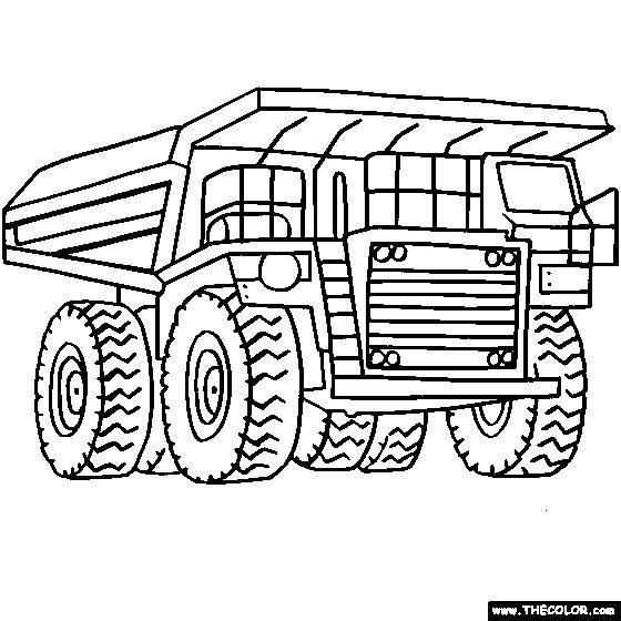 Coloriage et dessins gratuits Camion Tonka à gravier à imprimer