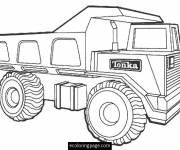 Coloriage et dessins gratuit Camion Tonka facile à imprimer
