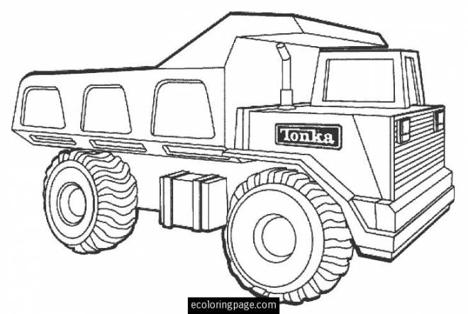 Dessin Camion Benne Coloriage.Coloriage Camion Tonka Facile Dessin Gratuit A Imprimer
