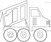 Coloriage et dessins gratuit Le Camion Benne à télécharger à imprimer